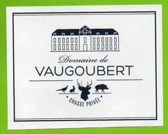 DOMAINE DE VAUGOUBERT CHASSE PRIVE ► AUTOCOLLANT 851 ► - Autocollants