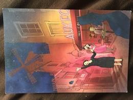 Carte Postale : Le Moulin Rouge - Montmartre (Edith Piaf, Yves Montand, Toulouse-Lautrec) - France