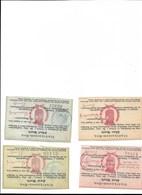 Lot 4 Billets Bon De Nécéssité COLMAR 1914 Faux Copies Papier Non Conforme - Bons & Nécessité