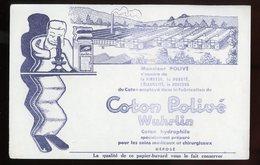 BUVARD:  COTON POLIVÉ WUHRLIN - FORMAT  13,5X21 Cm - Textile & Vestimentaire