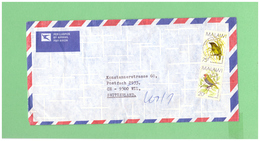 1994 MALAWI AIR MAIL COUVERT WITH 2 STAMPS TO SWISS - Malawi (1964-...)