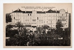 - CPA CANNES (06) - HOTEL BEAUSÉJOUR - A. Heurtard - - Cannes
