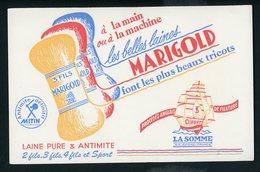 BUVARD:  LES BELLES LAINES MARIGOLD - FORMAT  13,5X20,5 Cm - Textile & Vestimentaire