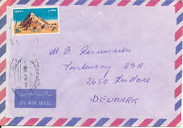 Egypt Air Mail Cover Sent To Denmark 18-4-1987 ?? - Airmail