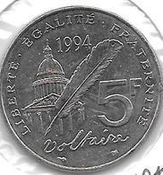 *france 5 Francs 1994 Km 1063 Xf+ - France