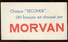 BUVARD:   CHAUSSURE MORVAN - FORMAT  12X21 Cm - Chaussures