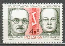 POLAND MNH ** 2629 ASSOCIATION DES POLONAIS EN ALLEMAGNE SIERAKOWSKI DOMANSKI EMBLEME - 1944-.... Republic