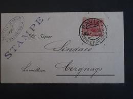 REGNO ITALIA BIGLIETTI CON OVALE DI FRANCHIGIA DRAPIA REGIE OSPITALE DI PAVIA POSTE 1920 - Franchigia