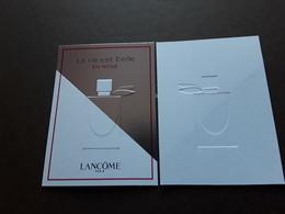 LANCÔME  ~~~ La Vie Est Belle En ROSE   2ème Version   R/V  !! - Perfume Cards