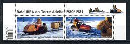 TAAF 2015  N° 737/738 ** Neuf MNH Superbe Raid Ibéa Terre Adélie Motoneiges Transports - Neufs