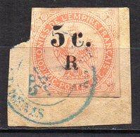 Col11   Réunion  N° 3  Oblitéré Sur Fragment Signé Brun  Cote 420,00 Euros - Oblitérés
