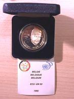 M/EC28 5 ECU 1995 Albert II *QP* Quality Proof - 50eme Anniversaire Nations Unies - ARGENT Avec ECRIN + Certificat - 1993-...: Albert II