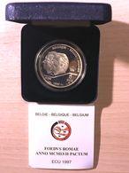 M/EC32 5 ECU 1997 Albert II *QP* Quality Proof - Traité De Rome 1957-1997 - ARGENT Avec ECRIN + Certificat - 1993-...: Albert II