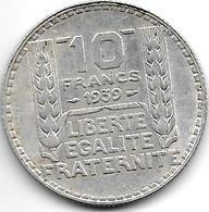 *france 10 Francs 1939 Km 878 Xf+ !! - France