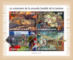 NIGER 2018 MNH Battle Of Somme Schlacht Bei Somme Bataille De La Somme WWI M/S - OFFICIAL ISSUE - DH1902 - Guerre Mondiale (Première)