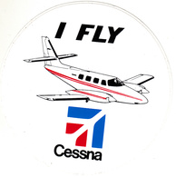 Thematiques Aviation Autocollant Sticker  I Fly Cessna Avion - Aufkleber