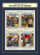 SIERRA LEONE 2016 ** Battle Of Somme Schlacht Bei Somme Bataille De Somme WWI M/S - OFFICIAL ISSUE - A1651 - Guerre Mondiale (Première)
