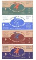 BRASSERIE DE BRUNEHAUT - RONGY - LA TOUQUETTOISE -  4 BIERETIKETTEN  (BE 059) - Beer