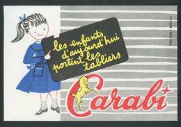 BUVARD:  TABLIER CARAGI - FORMAT  13,5X20,5 Cm - Textile & Vestimentaire