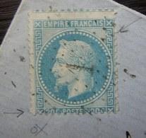Paris 1869 Lettre De Eug. Koller Successeur De Fred Tattet Pour Lunéville Petites Variétés à Voir Sur Le Timbre - Marcophilie (Lettres)