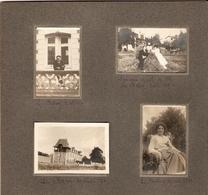 Lot De 15 Photographies Anciennes De Cesson (77), La Vie Au Balory En 1916, Billard, Jardin Fleuri, Vie De Famille, Rare - Lieux
