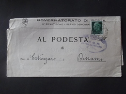 REGNO ITALIA BIGLIETTI CON OVALE DI FRANCHIGIA GOVERNATORATO ROMA REGIE POSTE 1937 - 1900-44 Vittorio Emanuele III