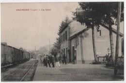 CPA 88 GRANGES La Gare Train - Granges Sur Vologne
