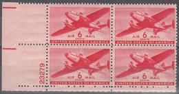 UNITED STATES   SCOTT NO. C25    MNH     YEAR   1941   PLATE BLOCK - 2b. 1941-1960 Unused