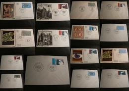 Arphila 75 Paris - Lot De 15 Enveloppes FDC Et Oblitérations Premier Jour - Timbres