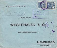 Brazil WOHLGEMUTH & LIMA Registered Registrada SAO PAULO 1927 Cover Letra HAMBURG Einschreibzustellung Arr. Cds. Germany - Brasil