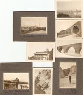 Lot De 9 Photographies Anciennes De Marseille, Routes De Rove Et De Miramas, Parc Borély, Photos De 1918 - Lieux