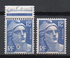 - FRANCE Variété N° 812b ** - 12 F. Outremer Marianne De Gandon - ANNEAU-LUNE - Cote 25 EUR - - Variétés Et Curiosités