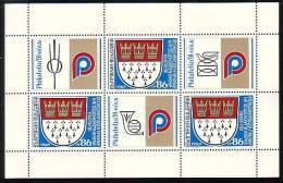"""BULGARIA \ BULGARIE - 1991 - """"Philatelia'91"""" Exposition  Int. De Philatelie A Cologne - PF** Avec 3 Vignets - Blocs-feuillets"""