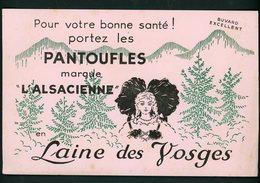 """BUVARD:  PANTOUFLES """"L'ALSACIENNE """" LAINE DES VOSGES - FORMAT  13,5X21 Cm - Textile & Vestimentaire"""