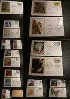 France - Lot D'enveloppes (+20) FDC - Oblitérations Premier Jour - Thème Faune - Timbres