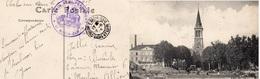"CP- CHALONS Sur SAONE  - Cachet: ""Train  -Semi Permanent- -"" - Guerre 1914-18"