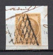 - FRANCE Yvert & Tellier N° 1a Oblitéré Grille Sans Fin - 10 C. Bistre-brun Type Cérès - Signé GAUTRE - Cote 500 EUR - - 1849-1850 Ceres