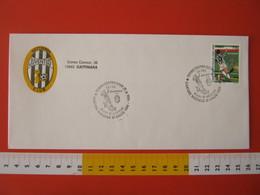 A.09 ITALIA ANNULLO FDC TORINO JUVENTUS CALCIO FOOTBALL VITTORIA CAMPIONATO - 1995 - BUSTA GATTINARA CLUB - Club Mitici