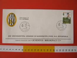 A.09 ITALIA ANNULLO FDC TORINO JUVENTUS CALCIO FOOTBALL VITTORIA CAMPIONATO - 1998 - BUSTA GATTINARA CLUB - Club Mitici