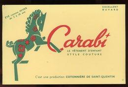 BUVARD:  VETEMENTS CARABI - FORMAT  13,5X21 Cm - Textile & Clothing