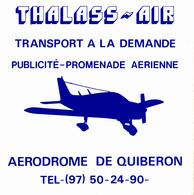 Thematiques Aviation Autocollant Sticker Thalass Air Aerodrome De Quiberon Transport A La Demande Publicité Promenade - Autocollants
