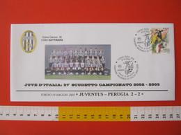 A.09 ITALIA ANNULLO FDC TORINO JUVENTUS CALCIO FOOTBALL VITTORIA CAMPIONATO - 2003 - BUSTA GATTINARA CLUB - Club Mitici