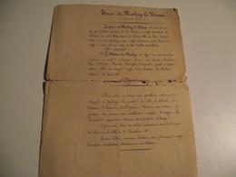 Terres De, MESLAY Le VIDAME,  Descriptif De Vente Manuscrit, Vers, 1860 - Religion & Esotérisme