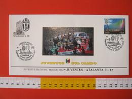 A.09 ITALIA ANNULLO FDC TORINO JUVENTUS CALCIO FOOTBALL VITTORIA CAMPIONATO - 2012 - BUSTA GATTINARA CLUB - Club Mitici