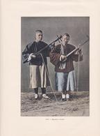 """CHINE - Gravure - Mendiants Aveugles - Instuments De Musique - Gravée Et Imprimée Par """" GILLOT """" - Voir Description - Chine"""