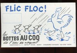 """BUVARD:  LES BOTTES """"AU COQ"""" FLIC FLOC - FORMAT  12,5X21 Cm - Chaussures"""