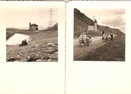 Lot De 2 Photographies Anciennes, Scooter Des Hautes-Pyrénées En Randonnée, Col De Montagne, Photos Vers 1960 - Coches