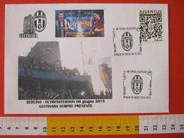 A.09 ITALIA ANNULLO FDC TORINO JUVENTUS CALCIO FOOTBALL VITTORIA CAMPIONATO - 2015 - BUSTA 2 GATTINARA CLUB - Club Mitici