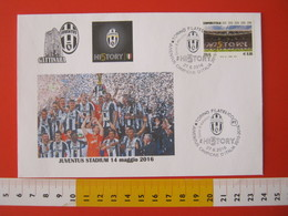 A.09 ITALIA ANNULLO FDC TORINO JUVENTUS CALCIO FOOTBALL VITTORIA CAMPIONATO - 2016 - BUSTA GATTINARA CLUB - Club Mitici