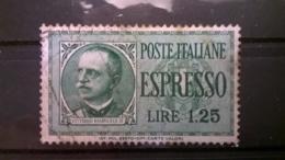 FRANCOBOLLI STAMPS ITALIA ITALY REGNO 1932 USED VITTORIO EMANUELE III ESPRESSO SASSONE E17 - 1900-44 Vittorio Emanuele III